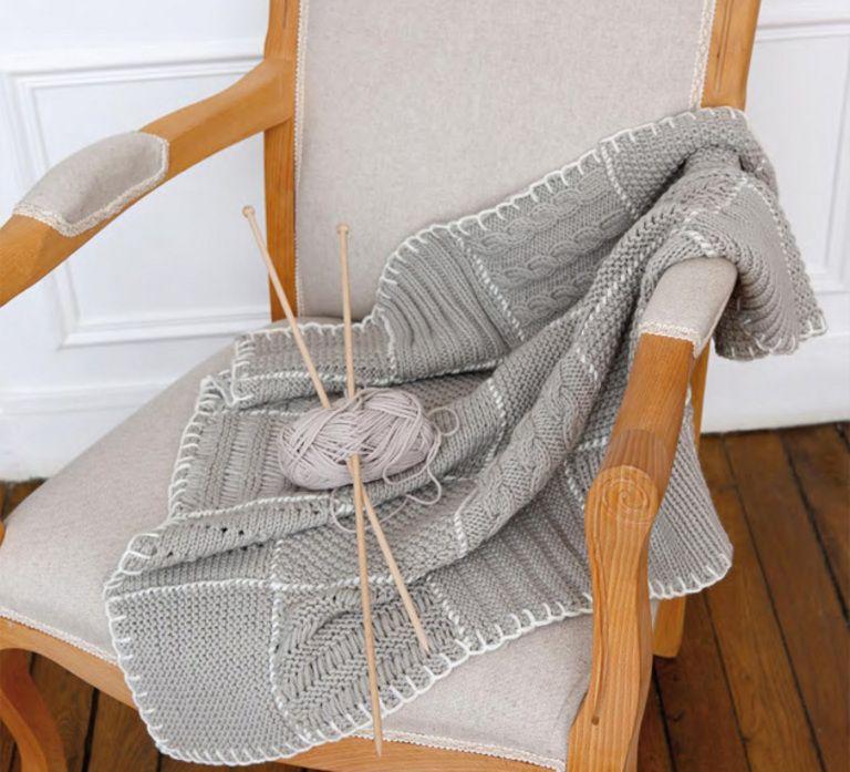 plaid patchwork phildar pour mettre sur un fauteuil un canap un lit un joli patchwork de