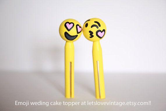 Emoji Wedding Cake Topper Emoji Couple Handmade Emojis Figurines