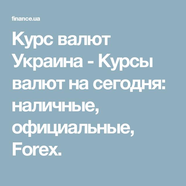 курсы валют на форекс