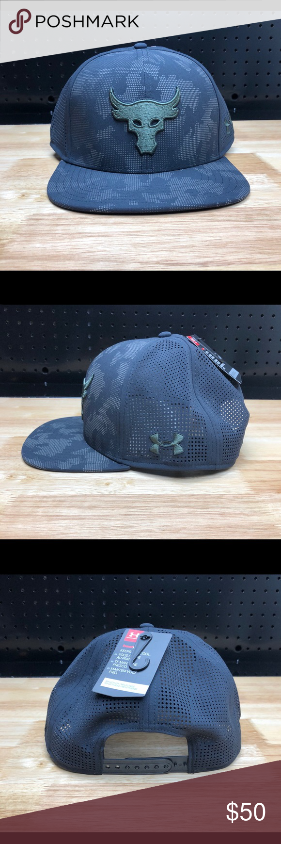 20d31600 Under Armour Mens UA x Project Rock Hat Cap Under Armour Mens UA x Project  Rock
