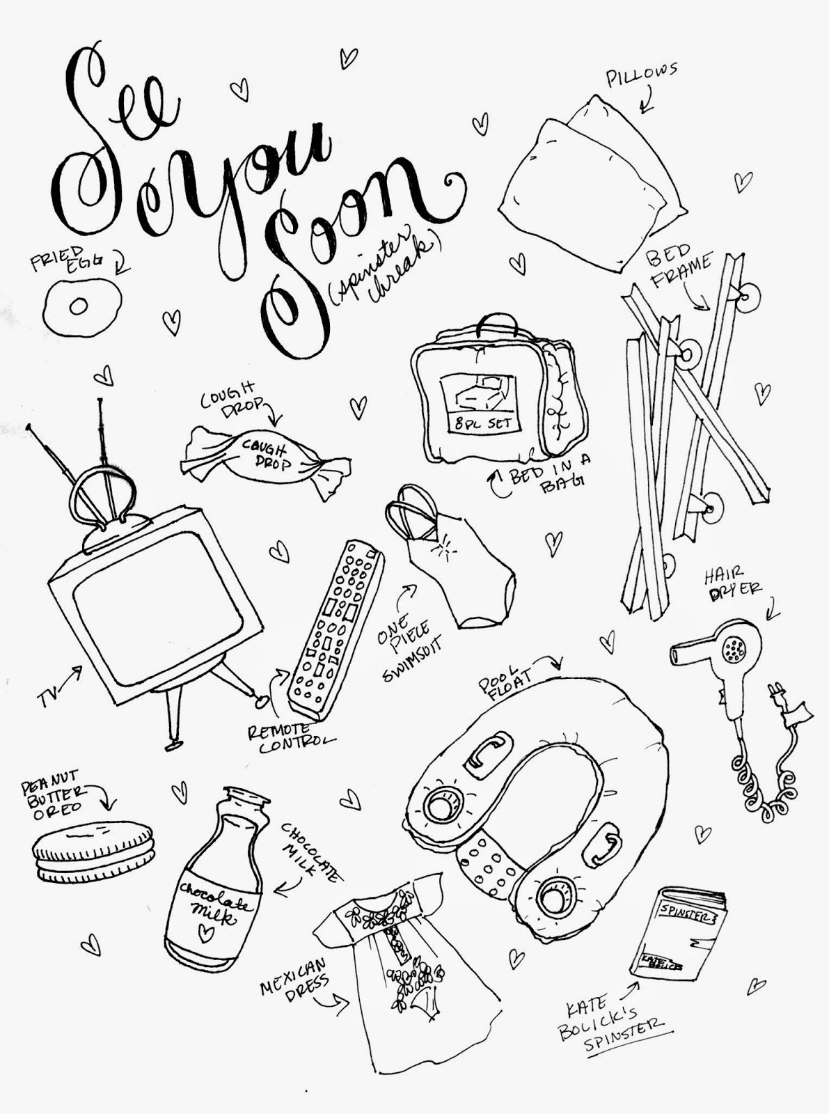 The Spinsterhood Diaries See You Soon A Coloring Page