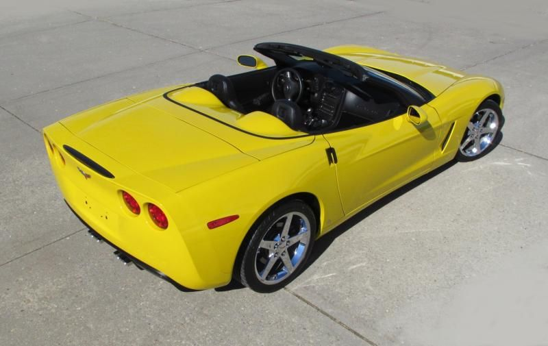 2009 Corvette Convertible For Sale In Wisconsin 2009 Convt Yellow 6 Spd 16k Miles Chevy Corvette For Sale Corvette 2009 Corvette