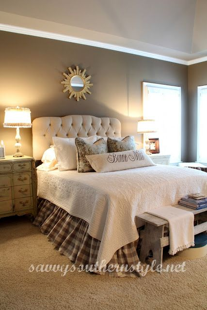 Master bedroom changes love the buffalo check bed skirt from one kings lane