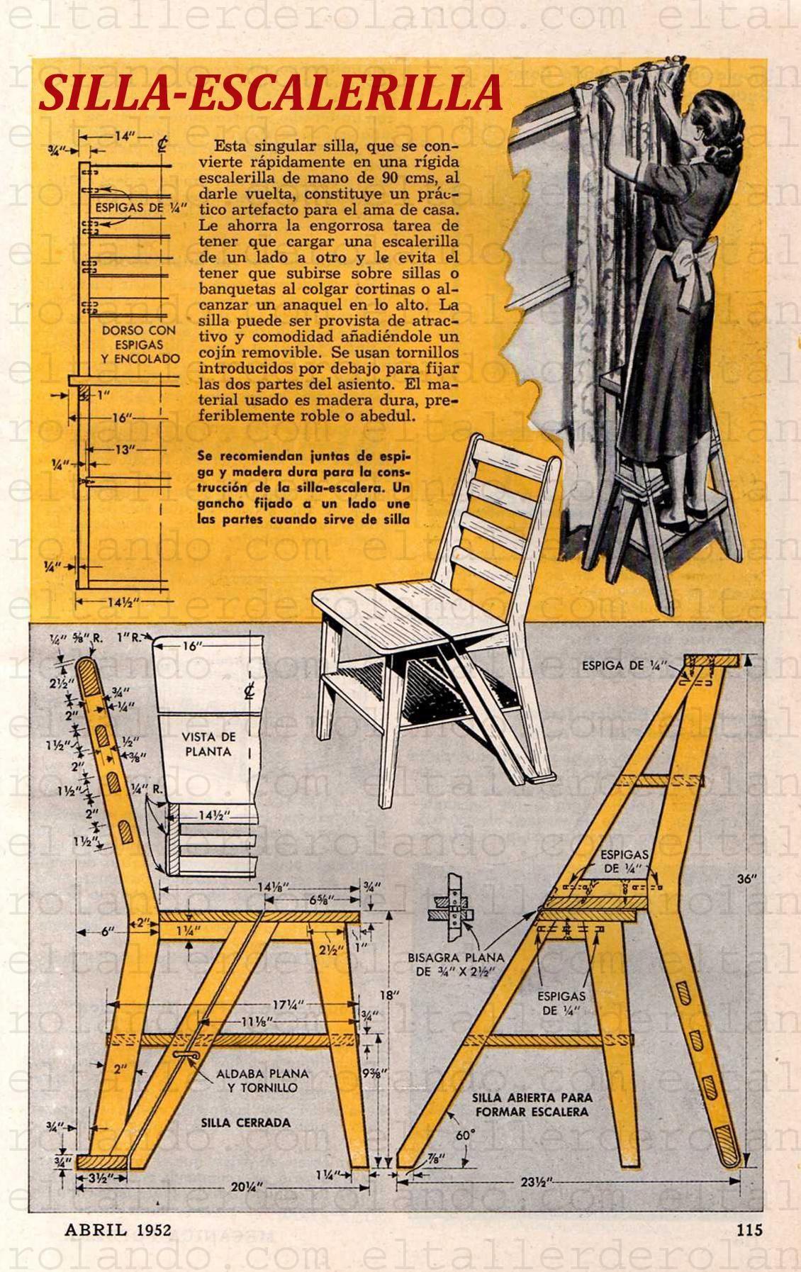 Tenes una silla vieja transformarla en escalera sillas for Sillas ascensores para escaleras precios