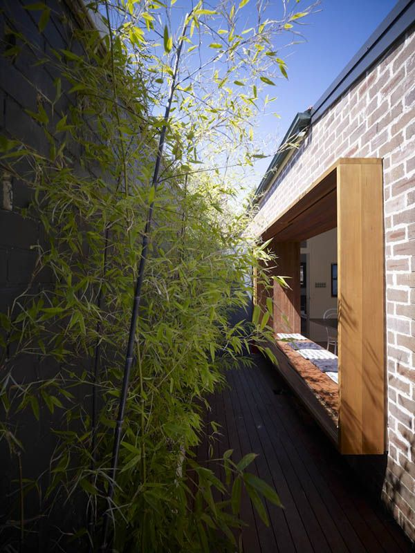Fascinating Wooden House With Brick Sticking Out Rustic Design