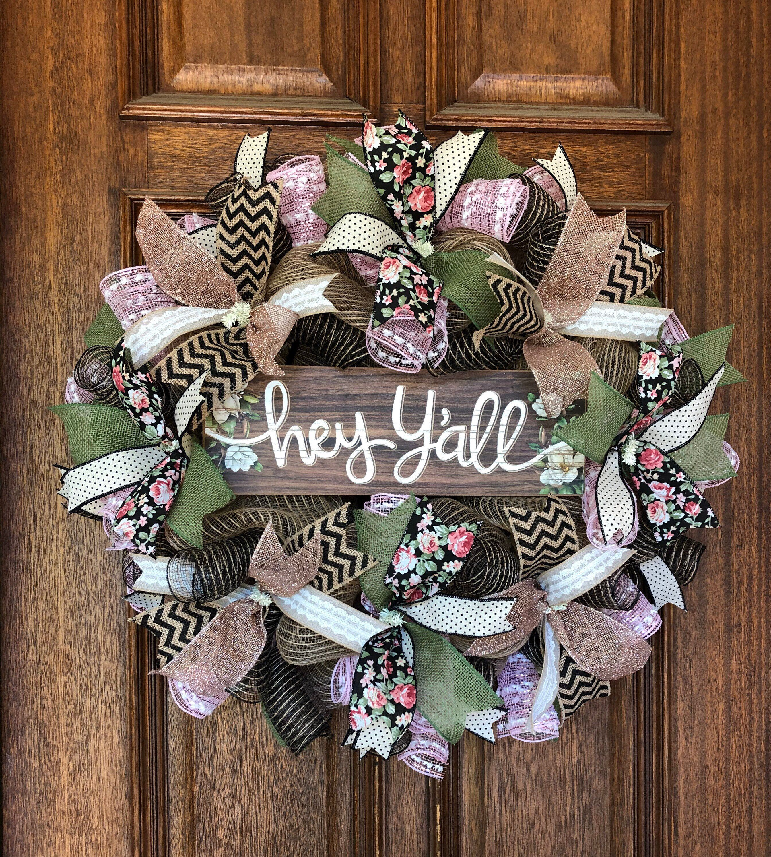 Faith Makes All Things Possible Poly Deco Mesh Wreath