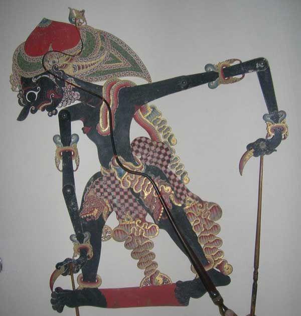 Pin Di Javanese Leather Puppet From Yogyakarta Region