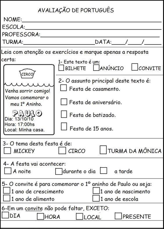 Pin Em Portugues 4 Ano