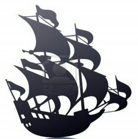 pirate ship sails template - old sailing pirate ship like captain hook or captain jack