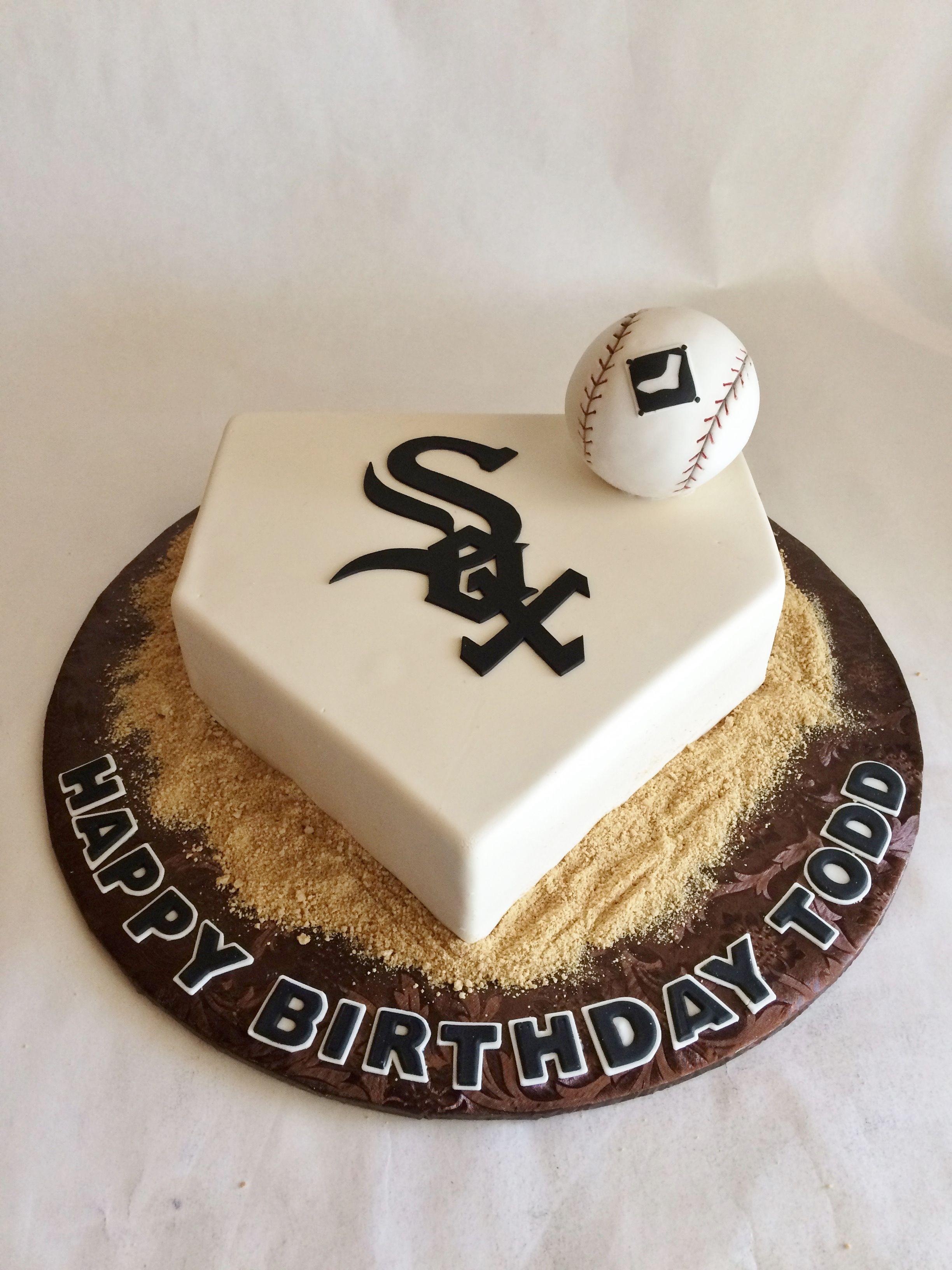 custom cake | birthday cake | baseball | sculpted | home plate