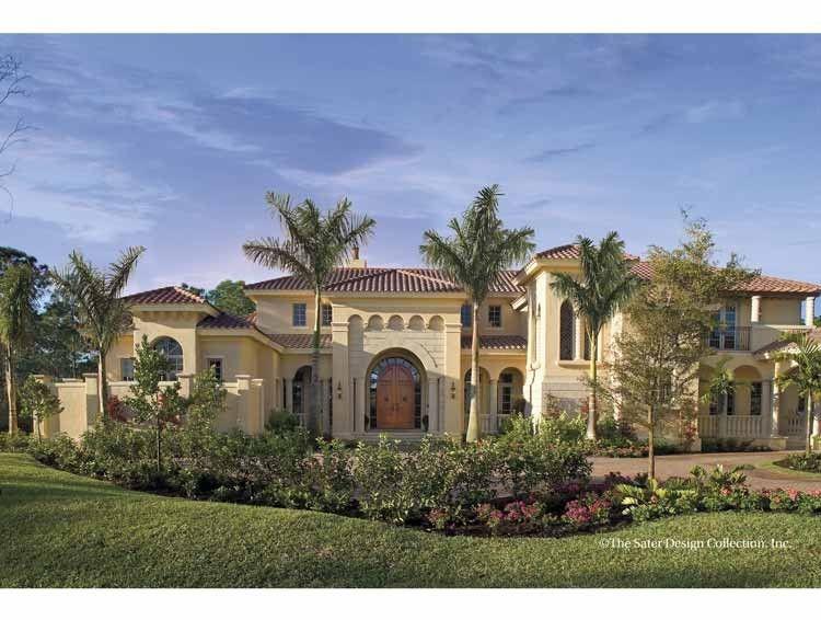 Mediterranean Style House Plan 4 Beds 5 5 Baths 6684 Sq Ft Plan 930 398 Mediterranean House Plans Mediterranean Style House Plans Luxury House Plans