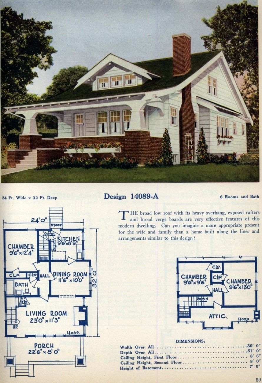 62 Beautiful Vintage Home Designs Floor Plans From The 1920s In 2020 Vintage House Plans Craftsman Bungalow House Plans American Home Design