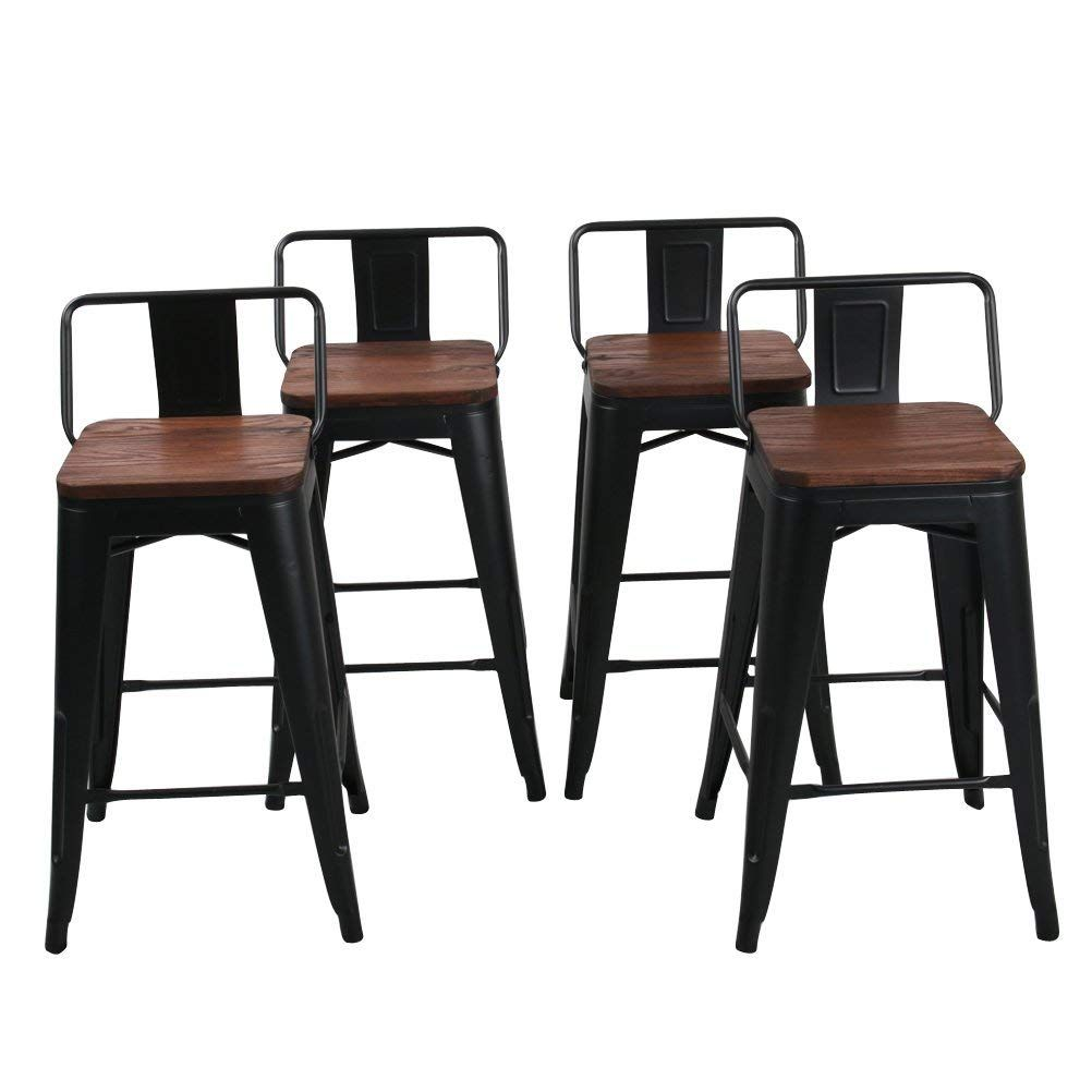 Amazon Com Changjie Furniture 24 Inch Swivel Metal Bar Stool Stack Able For Indoor Outdoor Kitc Metal Bar Stools Kitchen Counter Bar Stools Home Bar Furniture