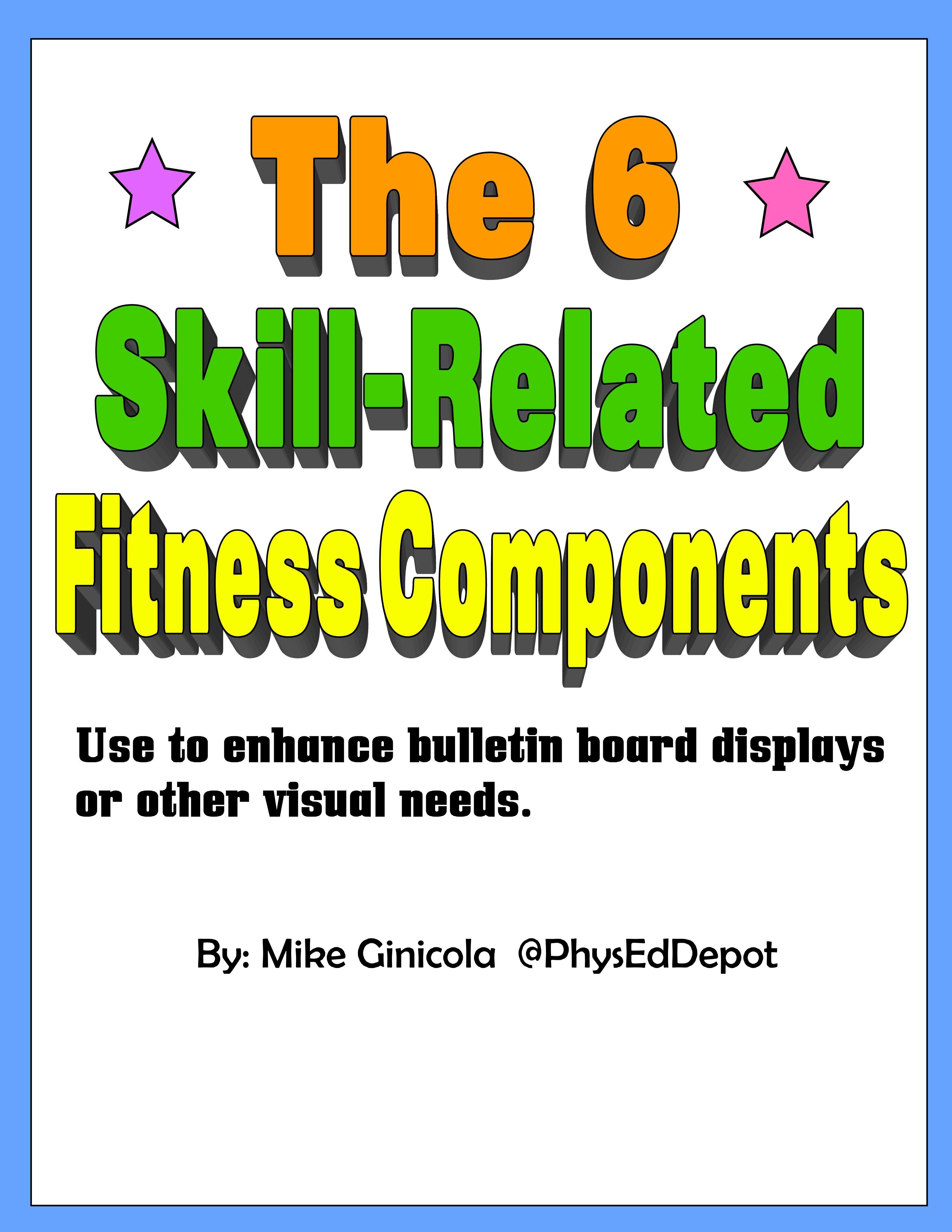 6 SkillRelated Fitness Components PE Bulletin Board