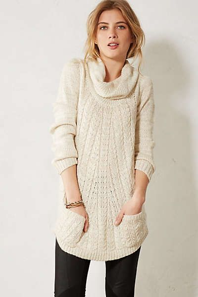 Anthropologie - Cabled Cowl Pullover