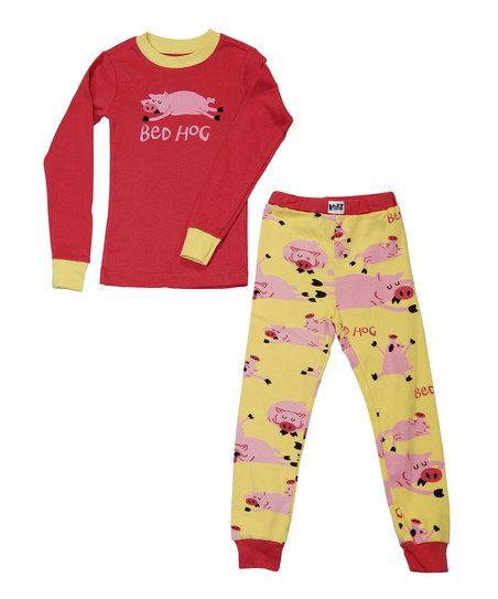 Pink   Yellow  Bed Hog  Pajama Set - Toddler   Kids  896c2cf4f