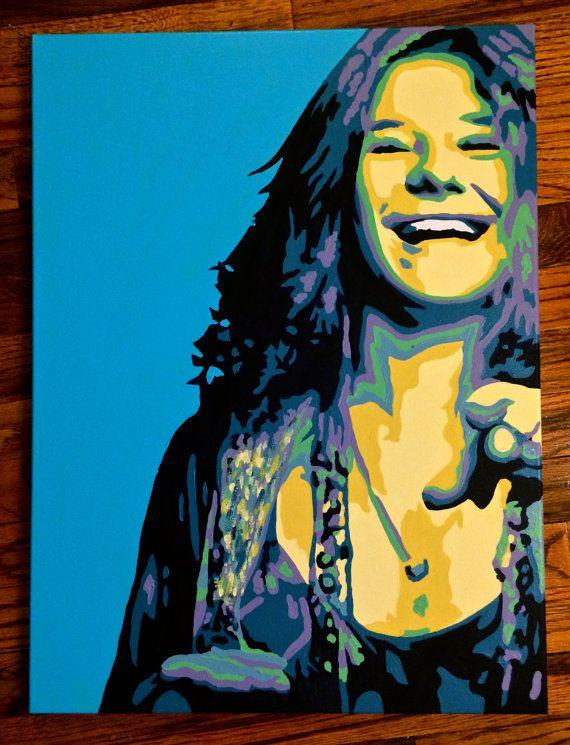 "18"" x 24"" Pop Art Painting of Janis Joplin on Etsy, £66.24"