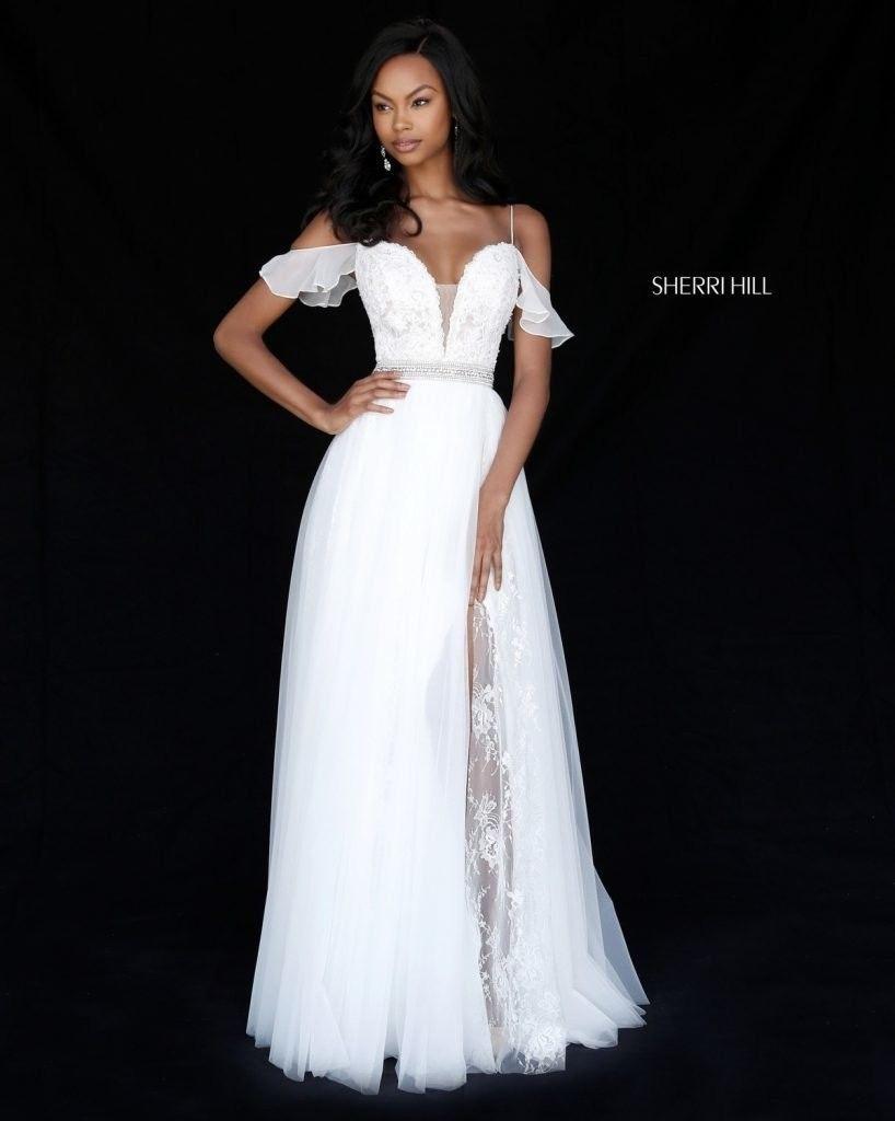 Beautiful white flowy prom dress long spring dresses pinterest