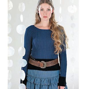 Knit a ribbed sweater :: free knitting patterns :: sweater patterns knitting :: UK knitting patterns