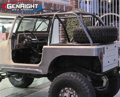 Fastback Roll Cage By Genright For Jeep Roll Cage Jeep Jeep Yj