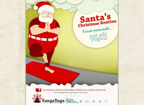 Santa's Christmas Routine Yoga eBook on Behance