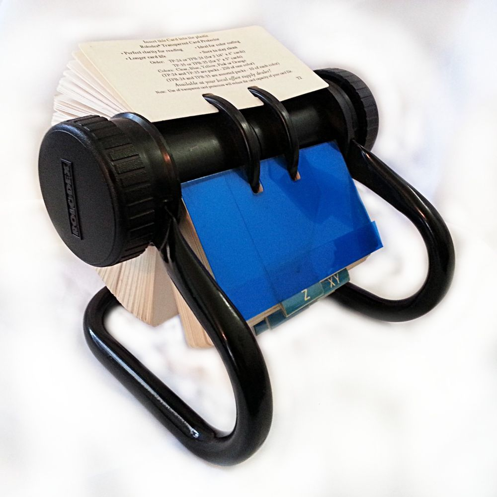 Rolodex Open Rotary Business Card Organizer Black Vintage Cards ...