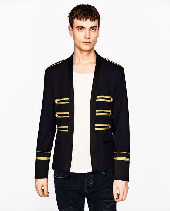 Image 2 Of Jacket With Golden Bands From Zara Shop Pinterest