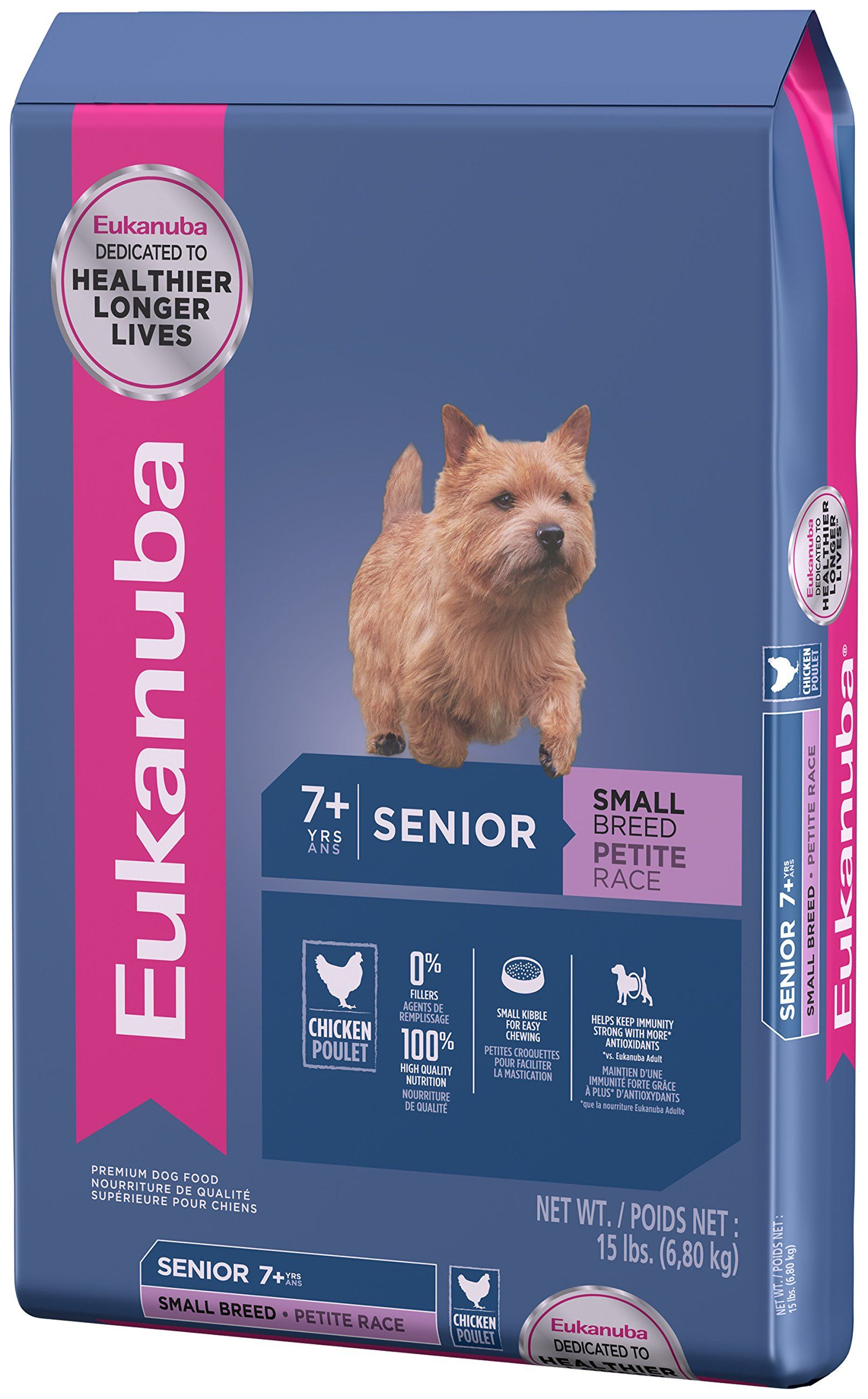 EUKANUBA Senior Small Breed Dog Food 15 Pounds *** Want to