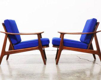 Mid Century Modern Walnut Lounge Chairs Each By Vintagesupplyla