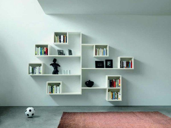 l 39 tag re murale design 82 id es originales etagere pinterest mural. Black Bedroom Furniture Sets. Home Design Ideas
