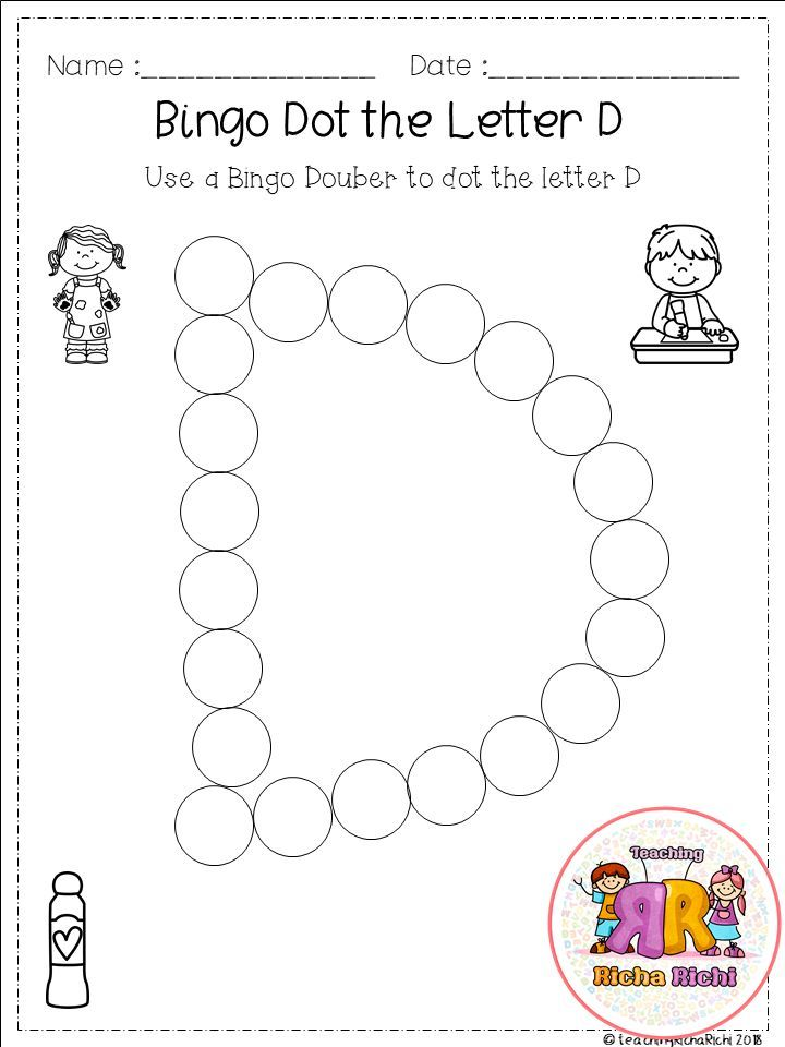 Dot and Color Letters and Sounds Activity! Free printable