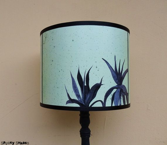 Cactus and Agave light green teal lamp shade lampshade ...