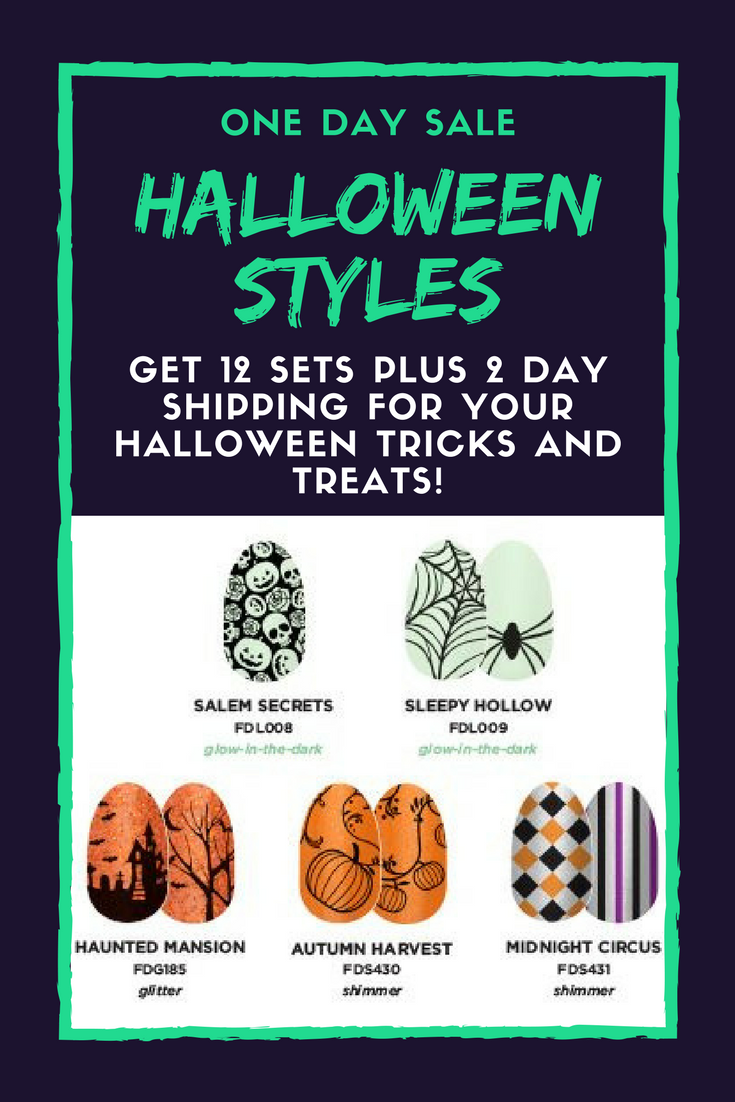 Halloween Nail Art - Color Street One Day Special 12 Sets ...