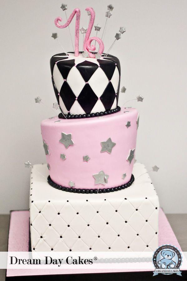 sweet 16 custom fondant cake