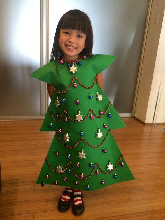 This Is So Adorable To Make Christmas Tree Costume Christmas Tree Costume Diy Christmas Tree Dress