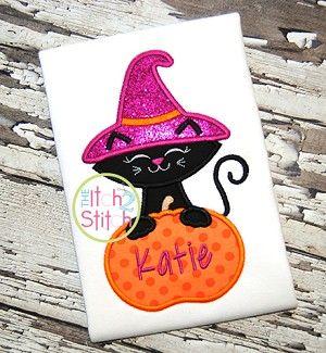 Cat Pumpkin 2 Applique