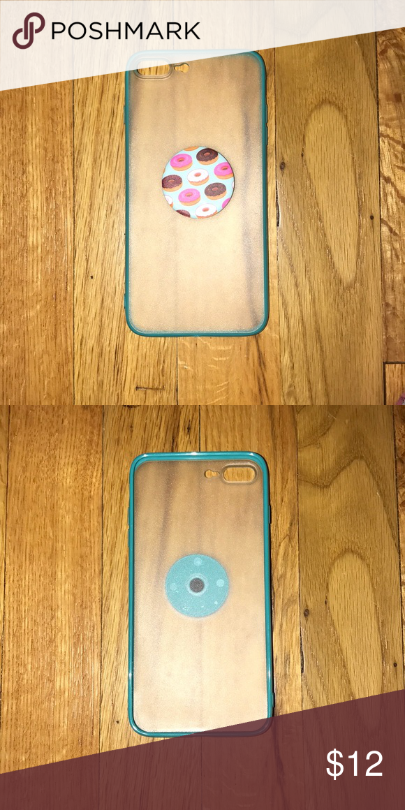 iPhone 7 Plus case with pop socket Never used popsocket