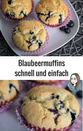 Photo of Einfache Blaubeermuffins – MakeItSweet.de