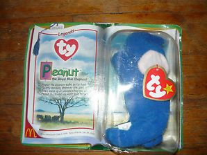 Rare McDonalds TY Beanie Babies Baby Peanut the Royal Blue Elephant Unopened   collectibles  beaniebaby  beaniebabies  blueelephant b679830bcbb