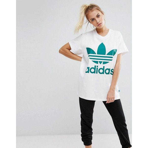 Designer Clothes, Shoes & Bags for Women | SSENSE. adidas Originals Big  Trefoil Tee In White ...