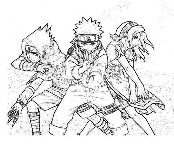 Sasuke Naruto And Sakura In Naruto Coloring Page Download Print Online Coloring Pages For Free Chibi Coloring Pages Online Coloring Pages Online Coloring