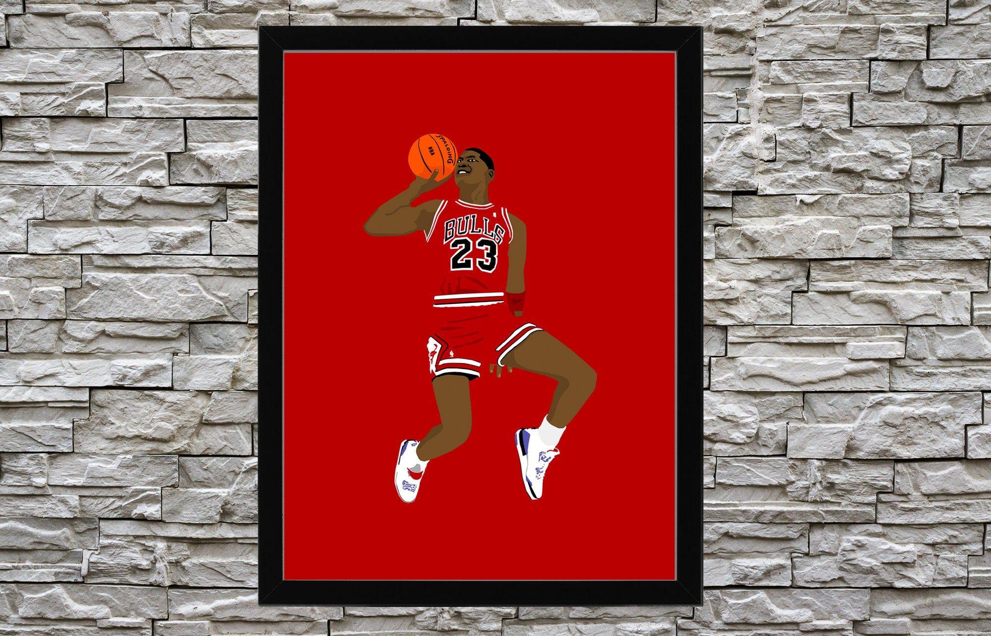 Michael Jordan Painting Artwork Canvas For Wall Art Decor Etsy Jordan Painting Artwork Painting Painting