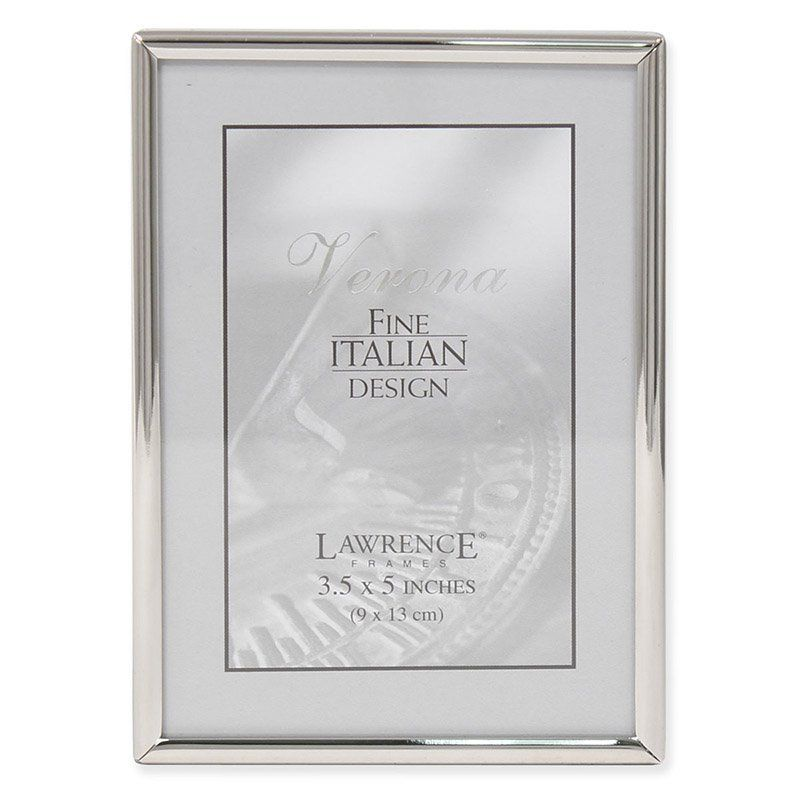 Lawrence Frames Polished Silver Plate 8 by 12-Inch Picture Frame Bead Border Design