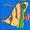 Peixe de mar-de-rosa para colorir - http://www.jogarjogosonlinegratis.com.br/jogos-de-customizar/peixe-de-mar-de-rosa-para-colorir/
