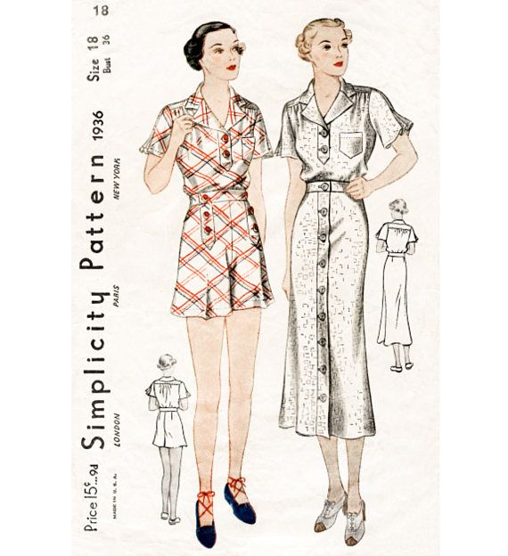 Vintage Sewing Pattern 1920\'s Flapper Chemise Teddy 3026 -