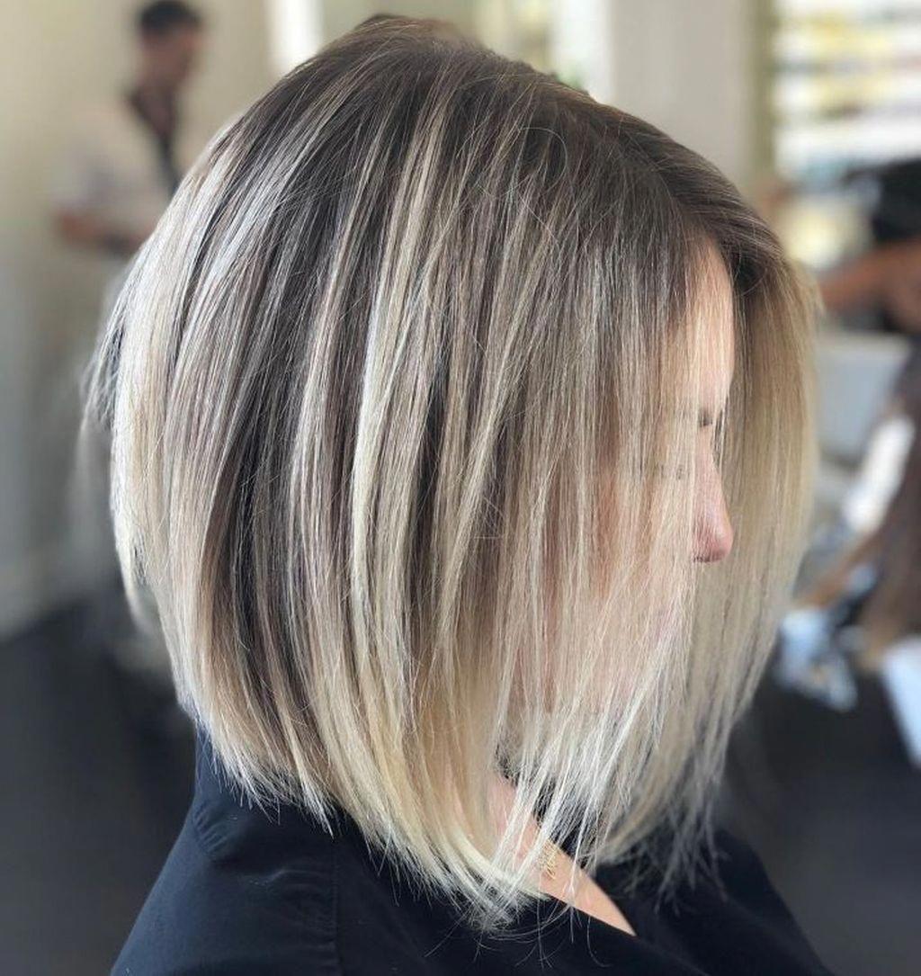 36 Die Besten Ideen Fur Mittellange Bob Frisuren Um Schon Auszusehen Dresscodee Bo 36 Die Besten Id In 2020 Kurze Blonde Haare Mittellange Haare Haarschnitt