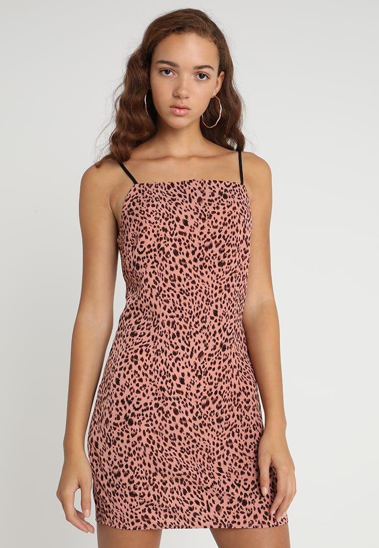 154812414ba6 Missguided ANIMAL PRINT STRAPPY DRESS - Day dress - pink - Zalando.co.uk