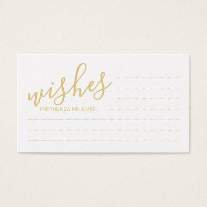 Elegant gold and white wedding advice and wishes business card elegant gold and white wedding advice and wishes business card gold wedding gifts customize marriage colourmoves