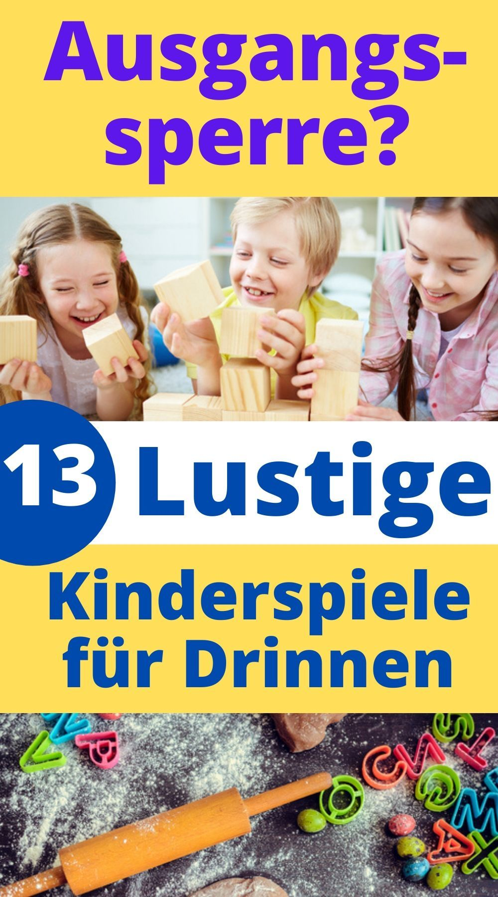 13 lustige Kinderspiele für Drinnen