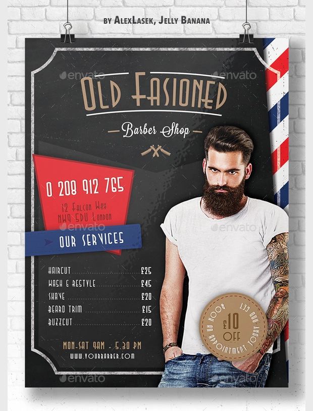 Design Trends Premium Psd Vector: 28 + Barbershop Flyer Templates And Designs - Word, PSD, AI, EPS Vector